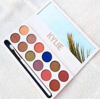 En stock Kylie Jenner 12 couleurs Ombre à paupières avec stylo Cosmétique Ombre à paupières Palette avec brosse Kyshadow DHL Livraison gratuite
