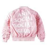 Hot MA1 Anti Social Social Club Jacket TOUR 1: 1 Alta Qualidade Logo Kanye West Londres ASSC Hoodies Hip Hop Sweat