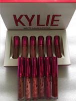 Kylie valentines collection rouge à lèvres rouge lèvres maquillage kylie Jenner lèvres kits mat lèvres lipgloss liquides cosmétiques un jeu 6 pcs = 6 couleurs dhl libre
