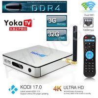 3 GB DDR4 32 GB YOKA KB2 PRO Android 6.0 Octa Core Smart TV Box Amlogic S912 dupla banda WiFi BT4.0 Kodi 17.0 4K 3D 1000M LAN H.265 Media Player