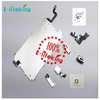 Pour iphone 6 6P LCD Montage Numériseur Réglage Complet Petite Réparation Partie Métal Bouclier Plaque Frontale Caméra Haut-Parleur Bouton Maison Bouton