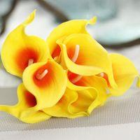 Calla artificial flower decorative flowers pu artificial bou...