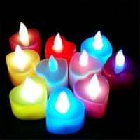 Vela Electrónica Lámpara De Luz LED Mucho Partido De Color Fiesta De Navidad Lámpara De Festival Romántico De Corazón En Forma De Color Vela Luz Suave