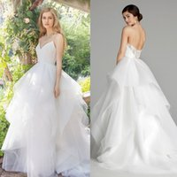 Jlmcouture 2017 Vintage A Line Lace Wedding Dresses Spaghett...