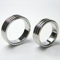 40mm 45mm Stainless steel cock ring metal sex delay ring pen...