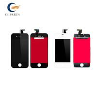 AAA Best Quality Blanc / Noir Pièces de rechange pour Apple iPhone 4G / 4S Moniteur d'écran LCD complet Livraison rapide rapide