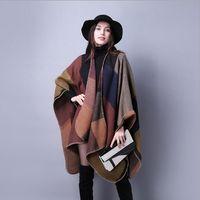 New Women' s Winter Poncho Vintage Blanket Women' s ...