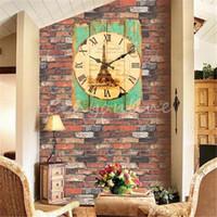 Wholesale Retro Vintage Rustic Wall Clock Shabby Chic Home Office Coffeeshop Bar Decor Decoration Best Gift Craft 4 Stylish