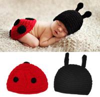 Cartoon Design Baby Photo Props Hat with Butt Cover Set Dott...
