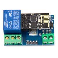 Wholesale- Free shipping !!1PCS LOT ESP8266 5V WiFi relay mo...