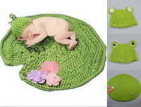 Photography Props Crochet Lotus Frog Baby Photography Prop S...