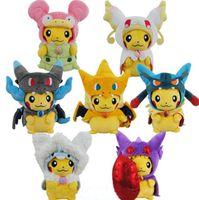 Poke Go Pikachu Plush Dolls Toys Cartoon Pikachu Charmander ...