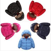 Kids Winter Down Jacket Hooded Coat Boys Fashion Down Coat O...