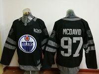 2017 Edmonton Oilers Men #99 Wayne Gretzky #97 Connor McDavi...