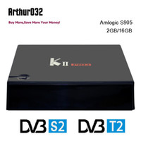 KII Pro DVB-T2 Amlogic S905 Quad-core Android 5.1 Caixa de TV 2G 16G UHD 4K 2.4G5G Wifi Bluetooth 4.0 Smart Media Player K2 PRO Caixa inteligente