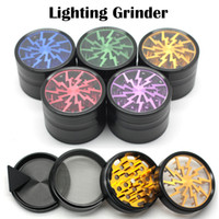 Hot Sale Herbal Meuleuses 63mm en alliage d'aluminium Grinders avec clair Top Window Lighting Dent 4 Pièces Grinder VS Sharpstone Grinders
