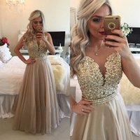 2017 See Through Burgundy Prom Dresses with Crytals Floor Le...