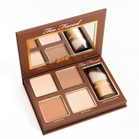 Marca COCOA Contour Kit Highlighters Palette Desnudo Color Cosmetics Face Concealer Maquillaje Chocolate Sombra con contorno Buki Cepillo