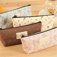Portable Canvas Flower Floral Cosmetic Bag Travel Toiletry W...