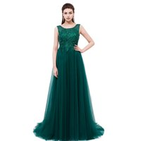 Green Lace Long Evening Dress SSYFashion Banquet Elegant Bac...