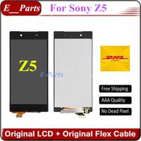 Original qualité AAA + pour Sony Xperia Z5 E6603 E6633 E6653 E6683 Écran à cristaux liquides Écran tactile Numériseur Assemblée Remplacement Blanc $ Noir