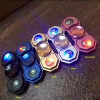 LED Light Hand Spinner Alliage Luminous Fidget Spinner Doigts Spirale Fingers Gyro Torqbar Décompression Jouets OOA1429