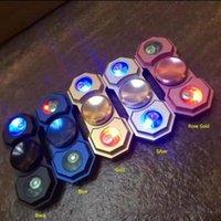 Luz LED Spinner Aleación Luminoso Fidget Spinner Fingertips Espiral Dedos Gyro Torqbar Descompresión Juguetes OOA1429