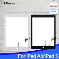 Qualité AAA lcd écran tactile pour iPad air Touch numériseur verre écran panneau d'assemblage avec bouton maison 3MAdhesive DHL Livraison gratuite