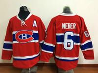 Канадиенс # 6 Ши Уэбер Красный хоккей Джерси Недорогие мужские Хоккей Униформа Лучшие качества Монреаль Хоккей Wear нашит Имя и номер Новый сезон