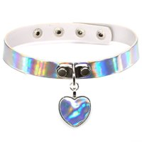 Fashion Laser Necklace heart Gothic Punk Holographic Choker ...