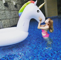Giant PVC Inflatable Unicorn Pegasus Water Swimming Float Ra...