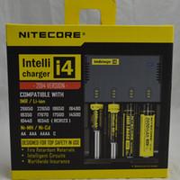 Nitecore I4 universal Intellicharger Cargador para e cigs cigarrillo 18650 14500 16340 26650 batería multi función