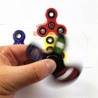 Spinner de mano Tri Fidget de cristal de bola de escritorio de escritorio de juguete de enfoque EDC para niños Adultos Para la ansiedad de descompresión Juguetes de dedo para matar el tiempo Towoto