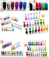 Magic colorful 510 acrylic drip tip Gourd shape 510 mouthpie...