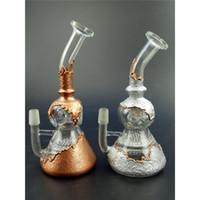 Luxury Glod Silver Bent Type Oil Rig Honeycomb Perc Smoking ...