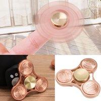 Hand Tri Spinner HandSpinner Doigts Spirale Fingers Fidget Spinner EDC Spinner à la main Brass Copper America Cent Fidgets Toys