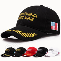 Haga a América grande otra vez sombrero de Trump de Donald Casquillos ajustables republicanos del bordado Casquillos del voto de América 20 diseños OOA1018