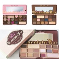 TooFaced Cosmetics Barra de chocolate SweetPeach Sombra de ojos Palette Chocolate Bar Semi Bon Bons 16 Colores Sombra de Dulce Melocotón 18 colores