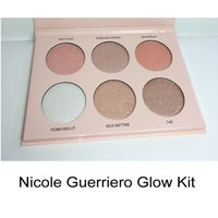 Haute Qualité Nicole Guerriero Glow Kit Poudre Surligneurs 6 Couleurs Poudre Palette 660086-1