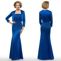 Royal Blue Plus Size Mother Of The Bride Dresses Long With J...