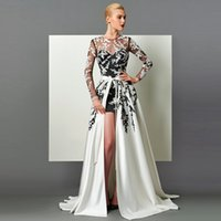 Modern Two Pieces Evening Dress Long Sleeve Jewel Appliques ...