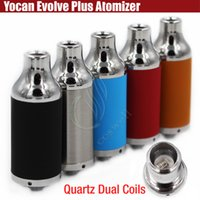 Authentique Yocan Evolve Plus atomiseurs Wax Vaporisateur herbal Vapeur herbe sèche 510 ego Evolve Batterie Quartz Dual Coils QDC e réservoir de cigarettes DHL
