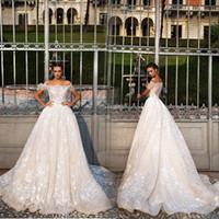 2017 Новый роскошный полный шнурок Princess Свадебные платья с коротким рукавом Аппликация шеи шлюпки Vintange Свадебные платья Vestidos De Новия