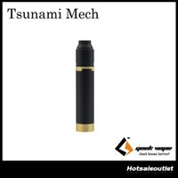 Kit de démarrage authentique GeekVape Tsunami Mech avec Tsunami Pro 25 RDA et Black Ring Plus Mechanical Mod 100% Original