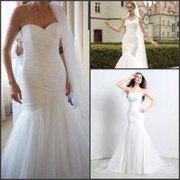 Chic Cheap Garden Mermaid Wedding Dresses 2017 Sweetheart Ru...