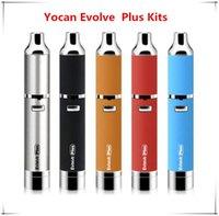 Yocan Evolve Plus Kits de démarrage avec 1100mAh Batterie Evolve Plus Atomizer Quartz Dual Coil Vape stylo à cire E cigs Dhl