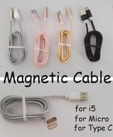 Magnetic Charger Cable 5V 2. 1A LED Light braid Micro USB Cab...