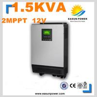 Горячее надувательство солнечный инвертор 1.5Kva 1200W с инвертора сетки 12V к 220V 80A 2 MPPT чисто инвертор 60A инвертора волны синуса чисто