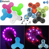 Bluetooth Fidget Spinner ABS ou Crystal Bluetooth Spinner et Led Usb Hand Spinner jouet EDC Toy pour décompression Anxiété Toys DHL OTH484