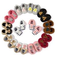 Baby Stripe First Walker Shoes Infant Boys Girls Moccasin Ne...